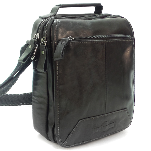 Мужская сумка Ruff Ryder. Кожа. 1861 black