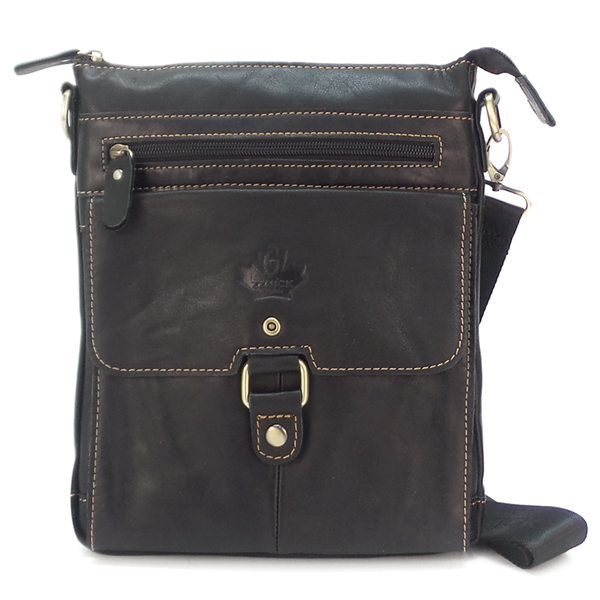 Мужская сумка Zznick. Кожа. 2301 black