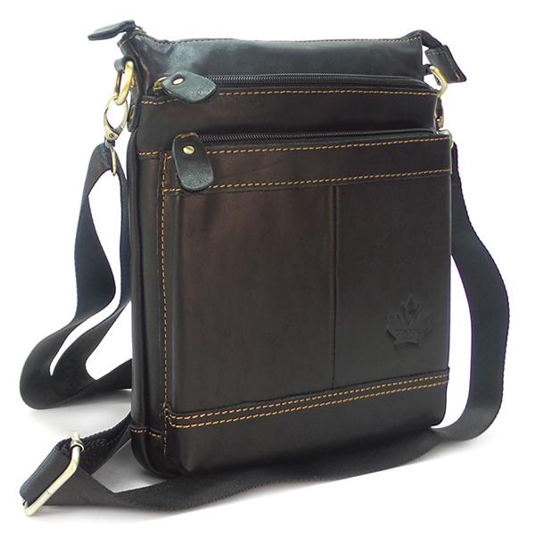 Мужская сумка Zznick. Кожа. 2305 black