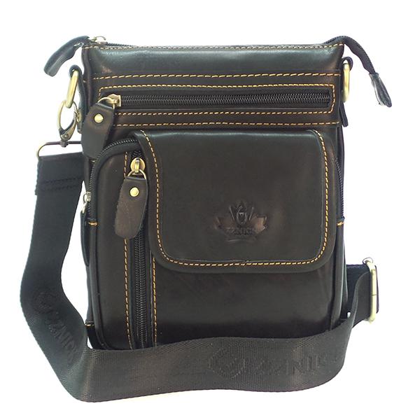 Мужская сумка Zznick. Кожа. 2606 black