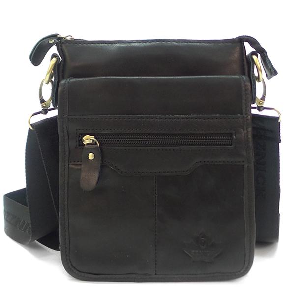 Мужская сумка Zznick. Кожа. 2609 black