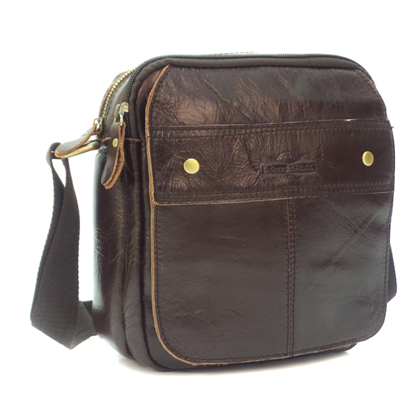 Мужская сумка Ruff Ryder. Кожа. 3259-1 d. brown