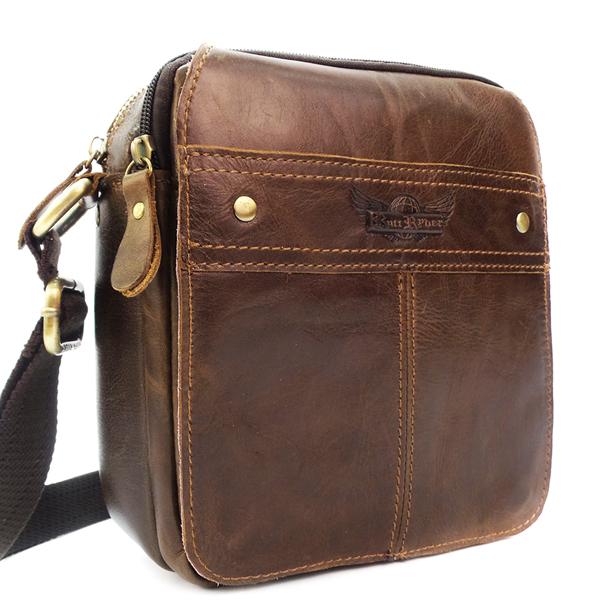 Мужская сумка Ruff Ryder. Кожа. 3259 brown