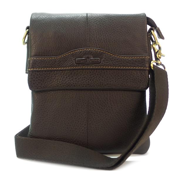 Мужская сумка Ruff Ryder. Кожа. 3546-3 d. brown