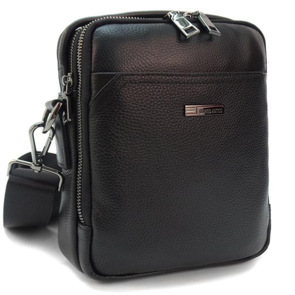 Мужская сумка Borgo Antico. Кожа. 3618-1 black