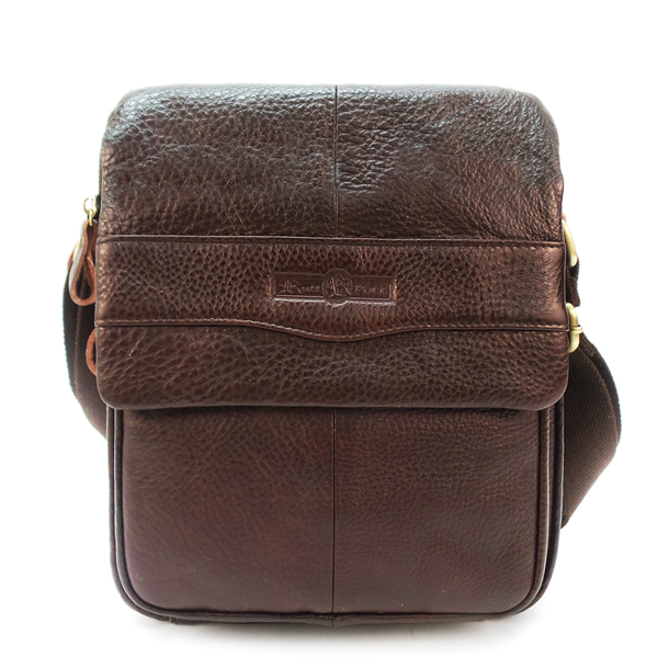 Мужская сумка Ruff Ryder. Кожа. 3738 brown