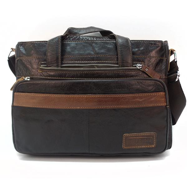 Мужская сумка Ruff Ryder. Кожа. 3748 brown