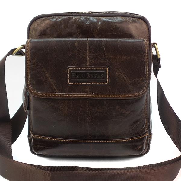 Мужская сумка Ruff Ryder. Кожа. 3785 brown