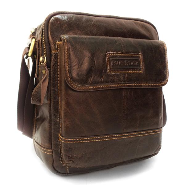 Мужская сумка Ruff Ryder. Кожа. 3786 brown