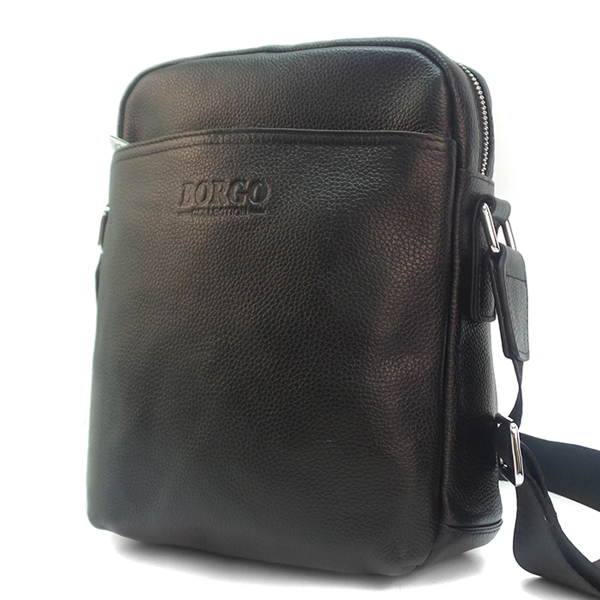 Мужская сумка Borgo Antico. Кожа. 381 black