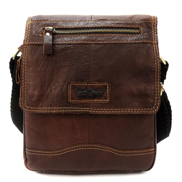 Мужская сумка Ruff Ryder. Кожа. 3831-2 coffee