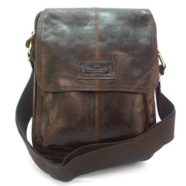 Мужская сумка Ruff Ryder. Кожа. 3904-1 brown