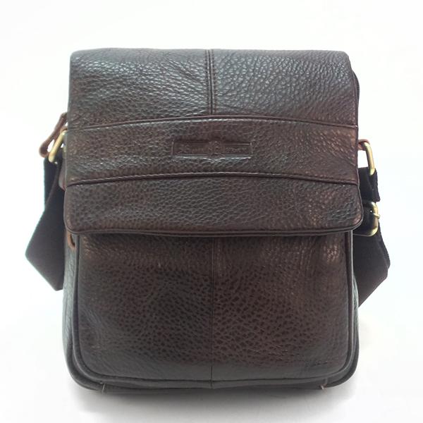 Мужская сумка Ruff Ryder. Кожа. 3935 brown