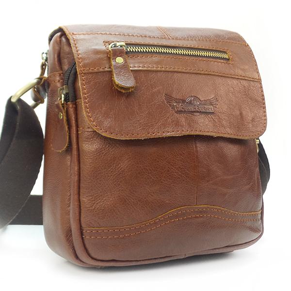 Мужская сумка Ruff Ryder. Кожа. 5286 brown