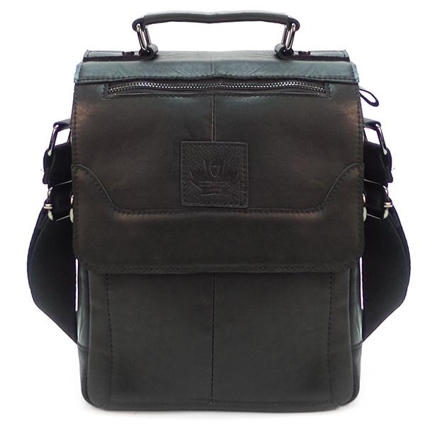 Мужская сумка Zznick. Кожа. 5301 black