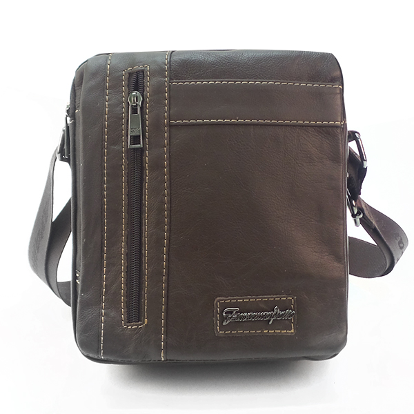Мужская сумка Faramo Pollo. Кожа. 5373 brown