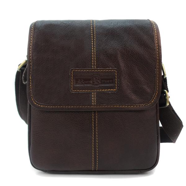Мужская сумка Ruff Ryder. Кожа. 5435 brown
