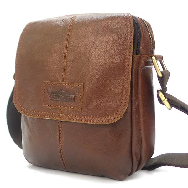 Мужская сумка Ruff Ryder. Кожа. 5480 brown