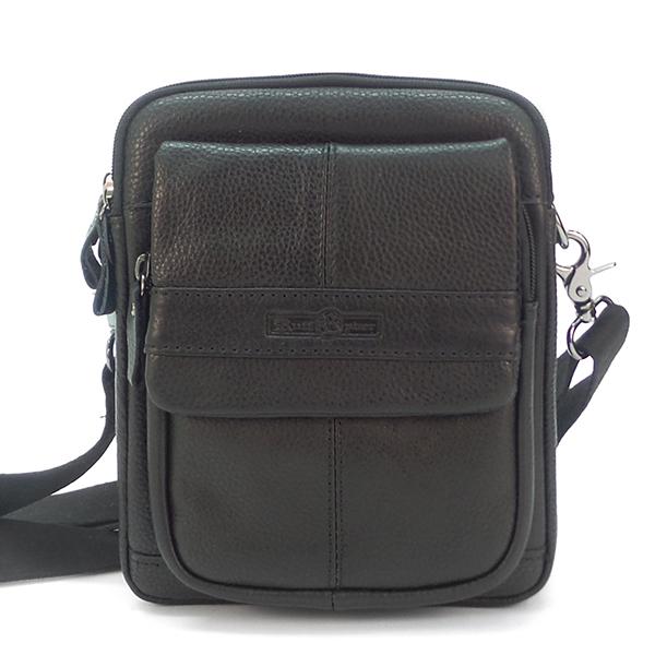 Мужская сумка Ruff Ryder. Кожа. 5486 black
