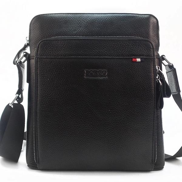 Мужская сумка Borgo Antico. Кожа. 61021 black