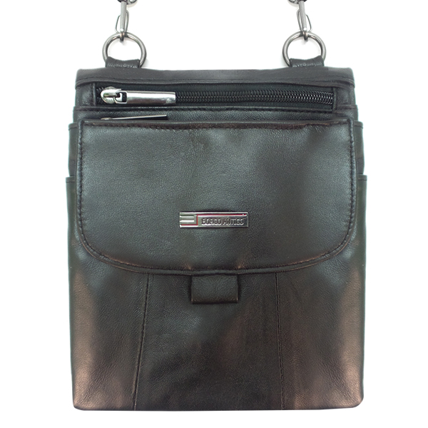 Мужская сумка Borgo Antico. Кожа. 6148 black