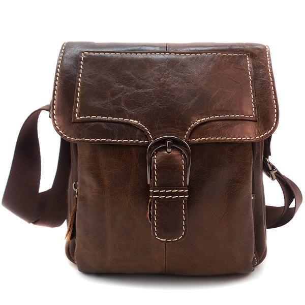 Мужская сумка Borgo Antico. Кожа. 615 brown