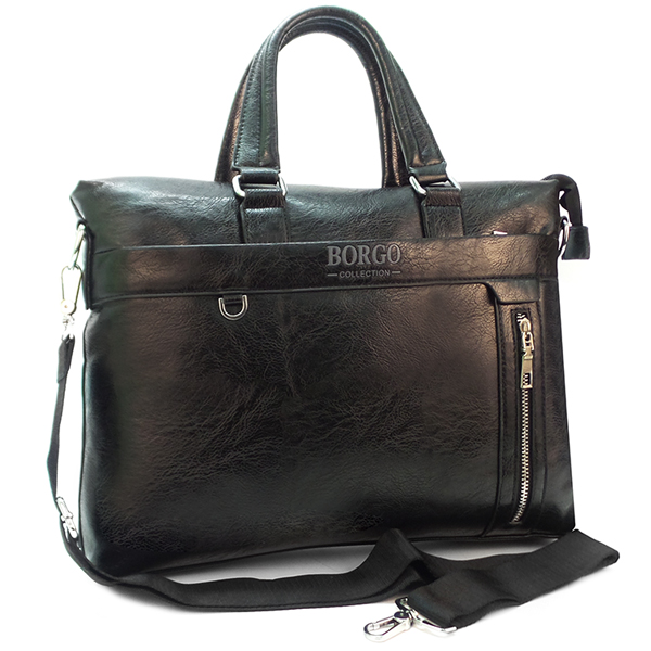 НЕТ В НАЛИЧИИ. Мужская сумка Borgo Antico. 637-1 black