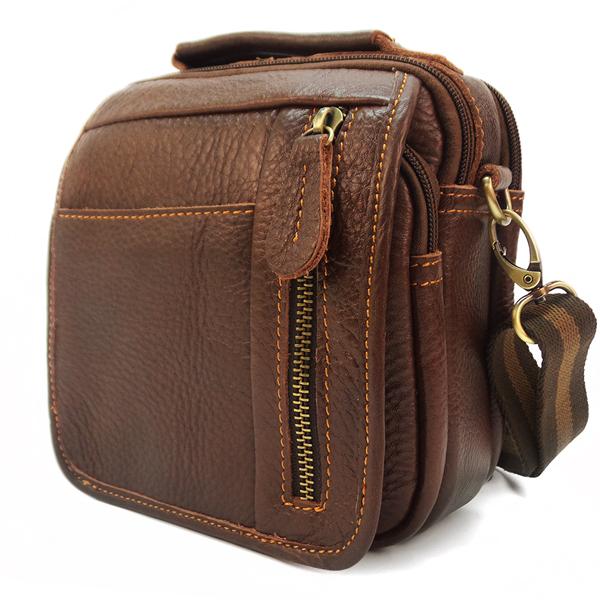 Мужская сумка Borgo Antico. Кожа. 679 brown