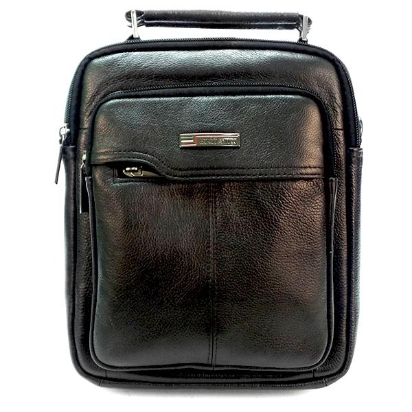 Мужская сумка Borgo Antico. Кожа. 7017 A black