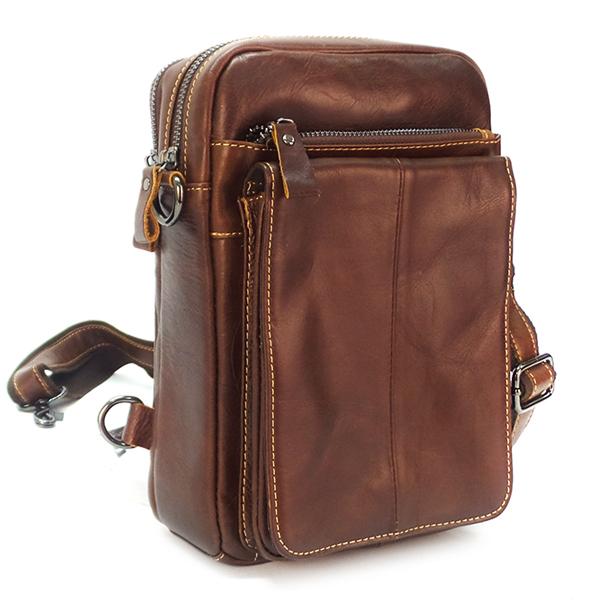Мужская сумка Borgo Antico. Кожа. 812 brown