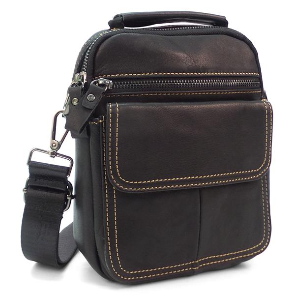 Мужская сумка Borgo Antico. Кожа. 8118 black NN