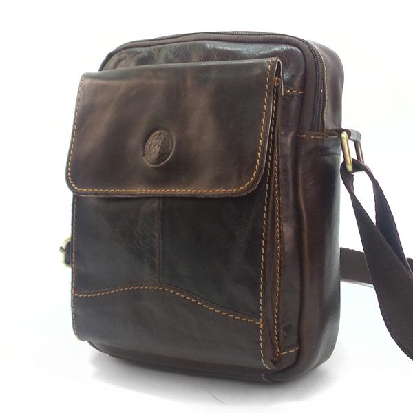 Мужская сумка Ruff Ryder. Кожа. 9010 brown