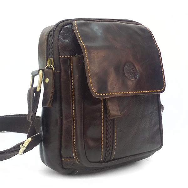 Мужская сумка Ruff Ryder. Кожа. 9011-1 brown