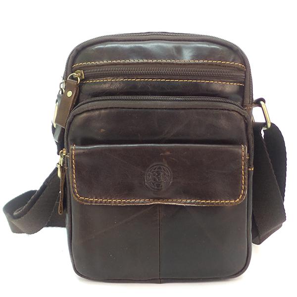 Мужская сумка Ruff Ryder. Кожа. 9018 brown