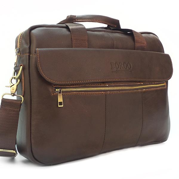 Мужская сумка Borgo Antico. Кожа. 9028 coffee