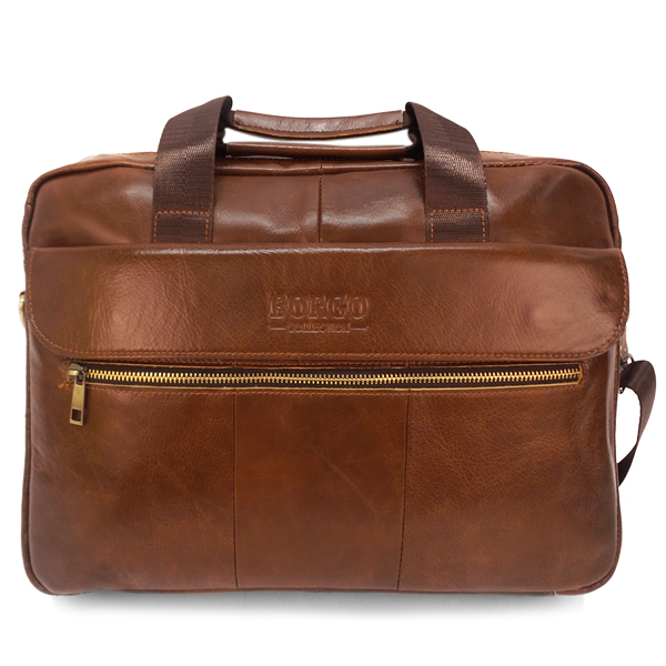 СКИДКА. Мужская сумка Borgo Antico. Кожа. 9028 coffee