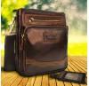 Мужская сумка Ruff Ryder. Кожа. 1117 brown