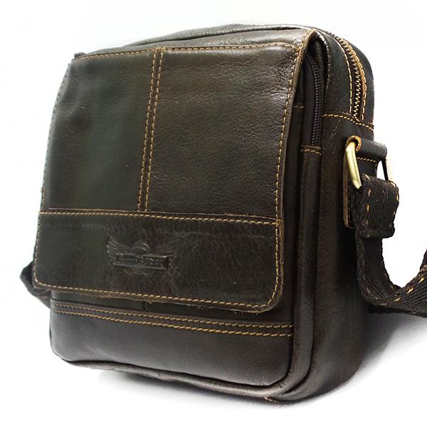 Мужская сумка Ruff Ryder. Кожа. 1651-1 coffee