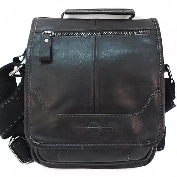 Мужская сумка Ruff Ryder. Кожа. 1661 black