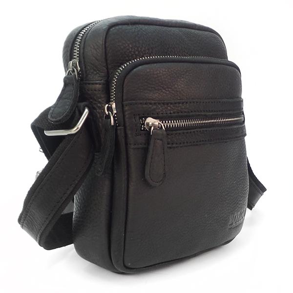 Мужская сумка Ruff Ryder. Кожа. S 0459-2 black
