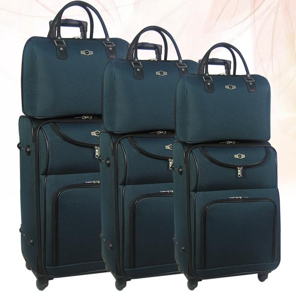 Тканевые чемоданы со съемными колесами
