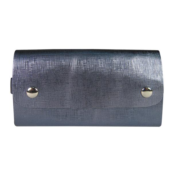 Ключница. Кожа. 05 purse bl. blue (блестящий голубой)