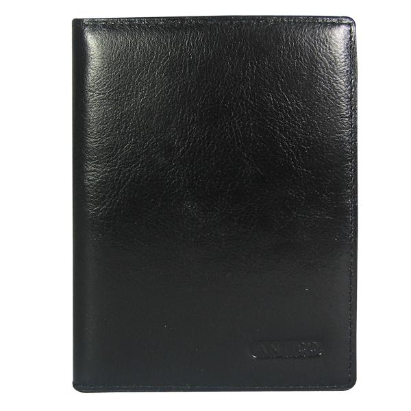 Обложка для паспорта Antico. Кожа. 1-907 black