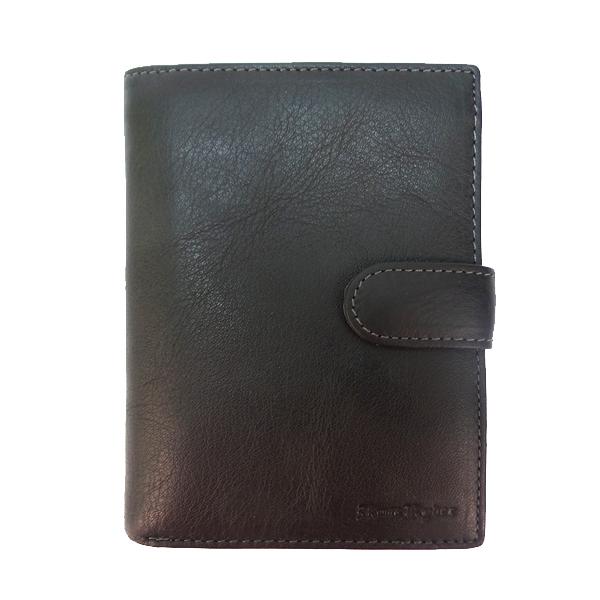 Кошелек+обложка для паспорта+автодокументы Ruff Ryder. Кожа. 38300 MP brown
