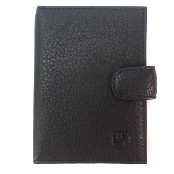 Обложка для паспорта. Кожа. 42-1 black
