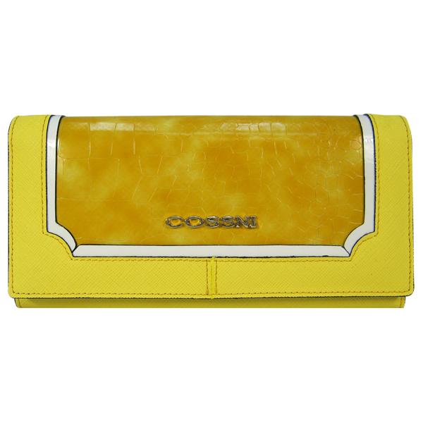 Кошелек Cossni. Кожа. C15-10128 yellow
