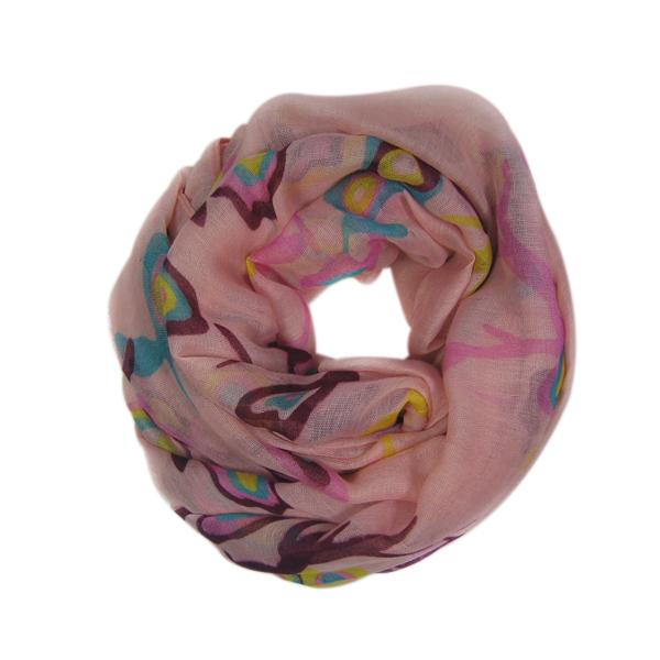 СКИДКА. Шарф. 004-7 pink