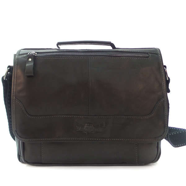 Мужская сумка Ruff Ryder. Кожа. 1497 black