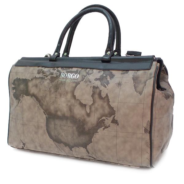Дорожная сумка Borgo Antico. 2325 grey map
