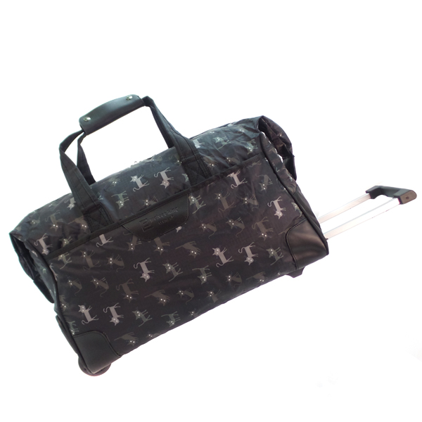 Дорожная сумка на колесах. 30204 black cat